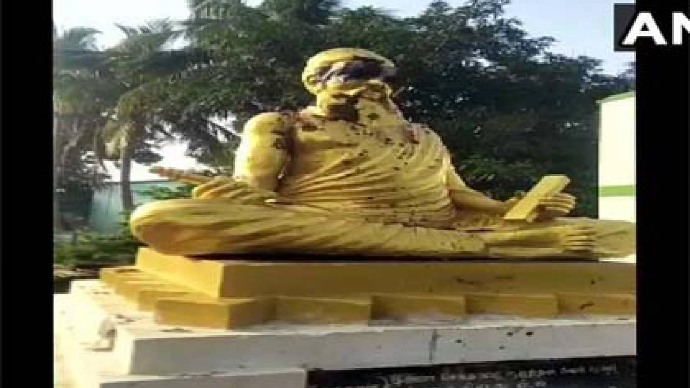 अराजक तत्वों ने तोड़ी तमिल कवि तिरुवल्लुवर की प्रतिमा, बीजेपी के ट्वीट से मचा विवाद