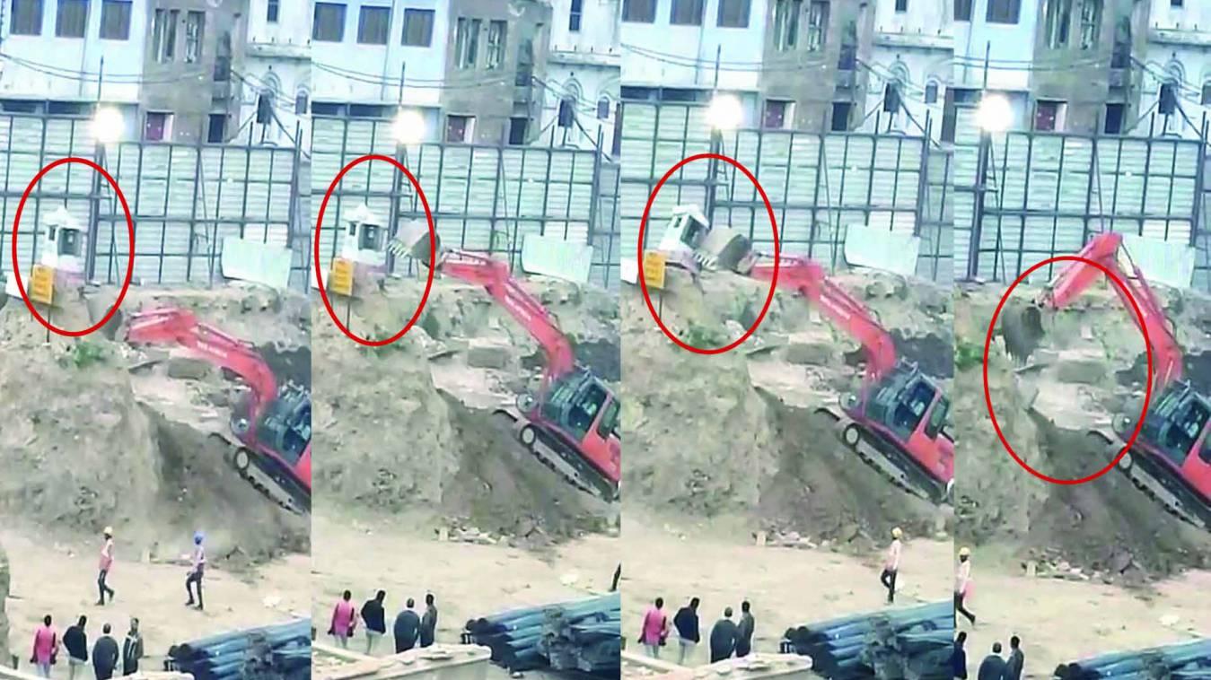 वाराणसी: काशी विश्वनाथ कॉरिडोर में जेसीबी से तोड़ा गया शिवमंदिर!वीडियो हुआ वायरल