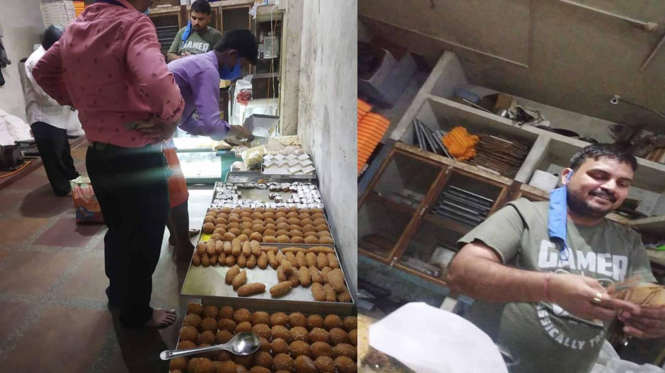 वाराणसी: लॉकडाउन की धज्जियां उड़ाकर ठठेरी बाजार में बेचीं जा रहीं मिठाइयां, प्रशासन को पता नहीं