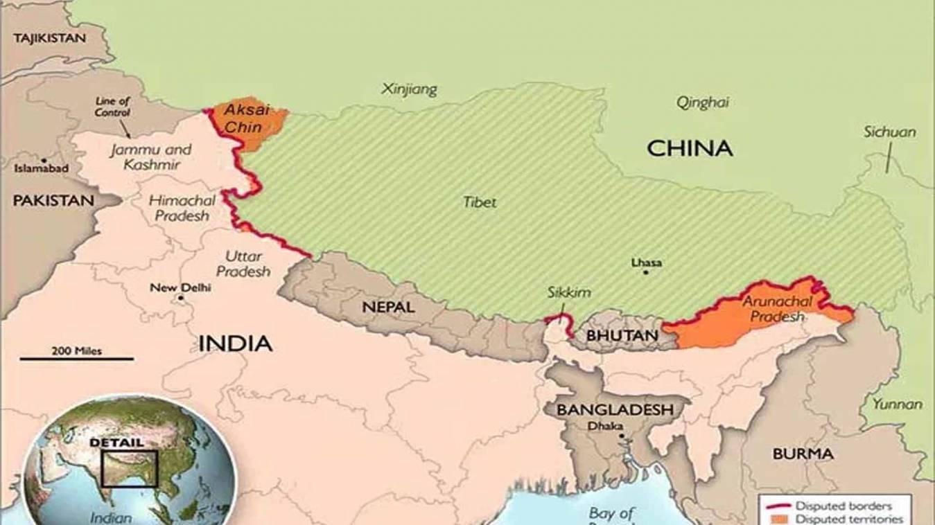 कोरोना महामारी के बीच चीन ने नए नक्शे में अरुणाचल प्रदेश को अपनी सीमा में दिखाया
