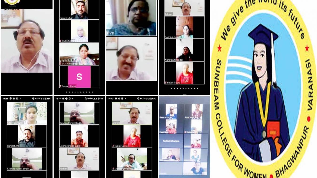 वाराणसी: सनबीम कॉलेज में कोरोना पर ई-चर्चा, विद्यापीठ कुलपति ने दिए छात्रों के सवालों के जवाब