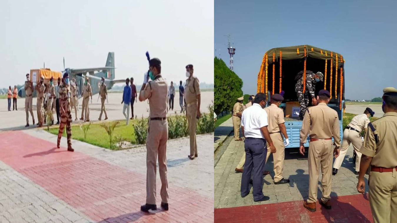 वाराणसी: शहीद सीआरपीएफ जवान के पार्थिव शरीर को देख हर एक की आंखे हुईं नम