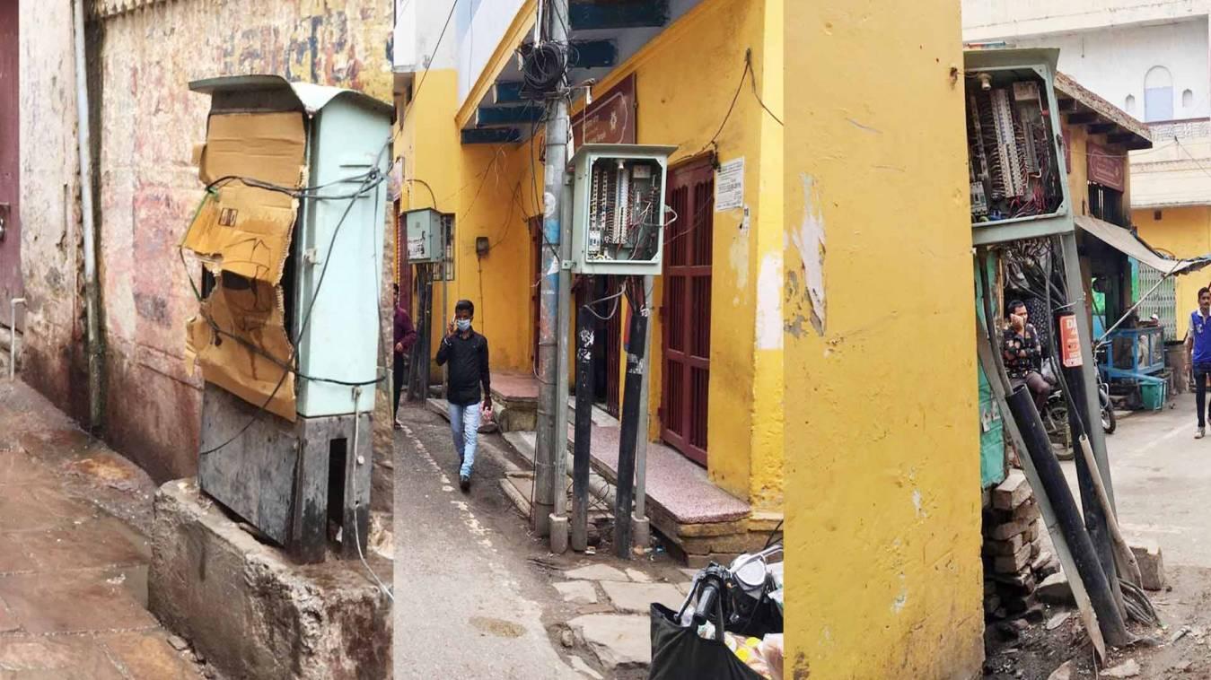 वाराणसी: खतरों को दावत दे रहे बिजली के खुले बॉक्स, शहर में कभी भी मच सकती है तबाही