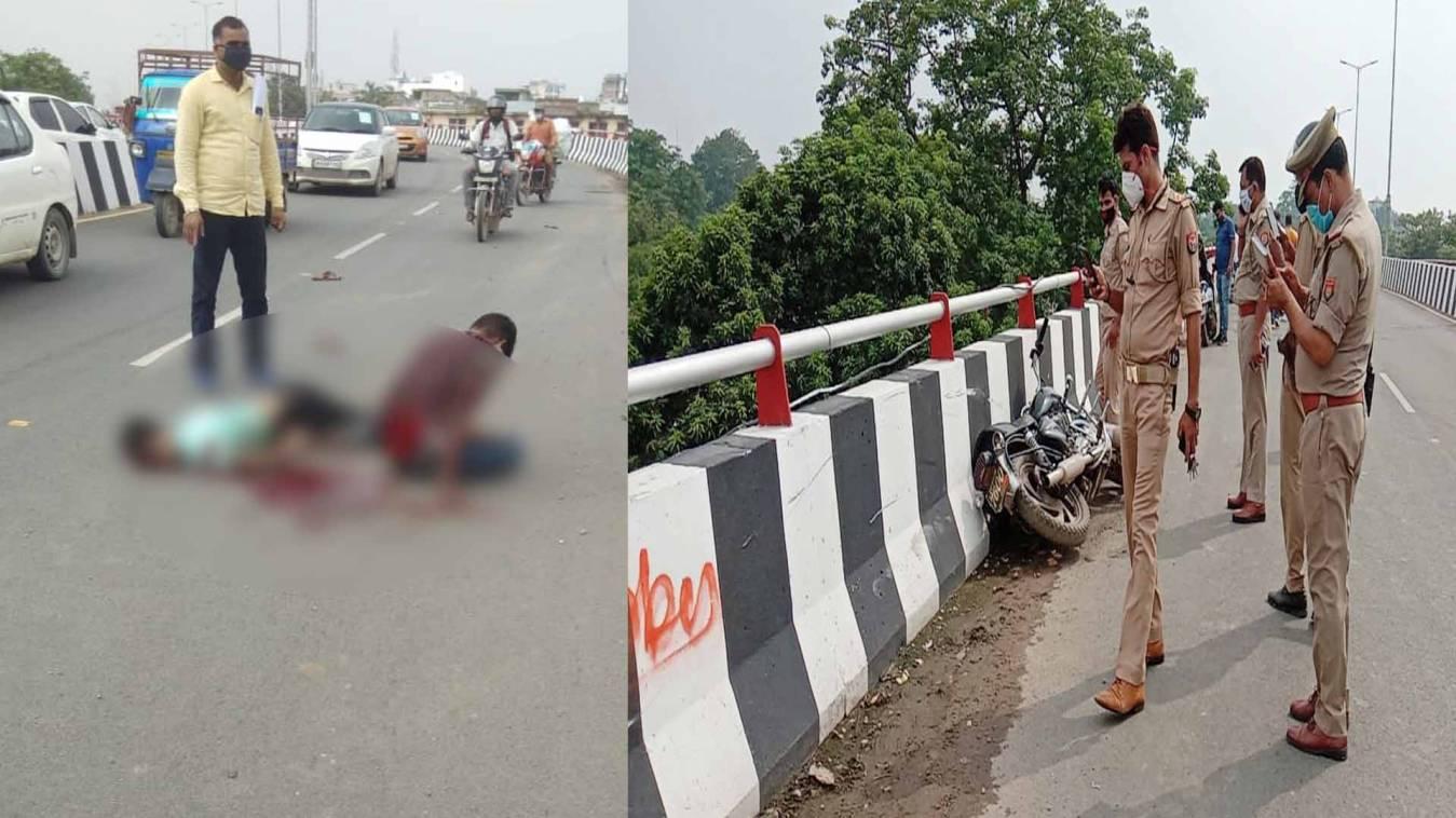 वाराणसी: कैंट-लहरतारा फ्लाईओवर पर दर्दनाक सड़क हादसा, एक की मौत, साथी घायल