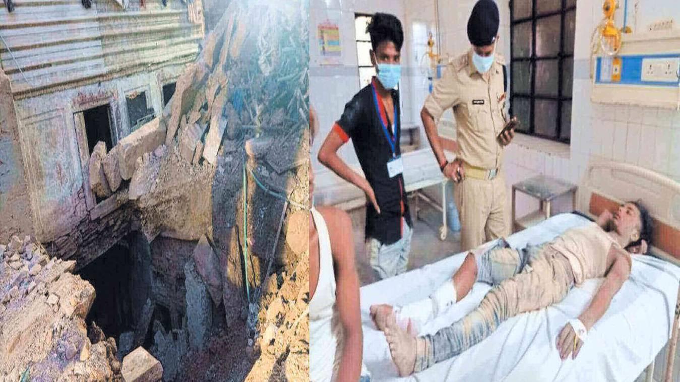 जर्जर छात्रावास का एक हिस्सा ढहा, दो मजदूरों की मौत