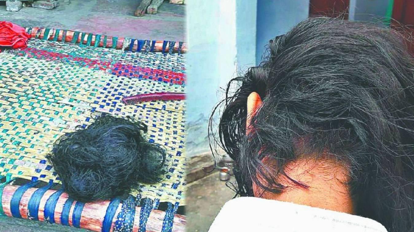 सिरफिरे युवक ने युवती के काटे बाल
