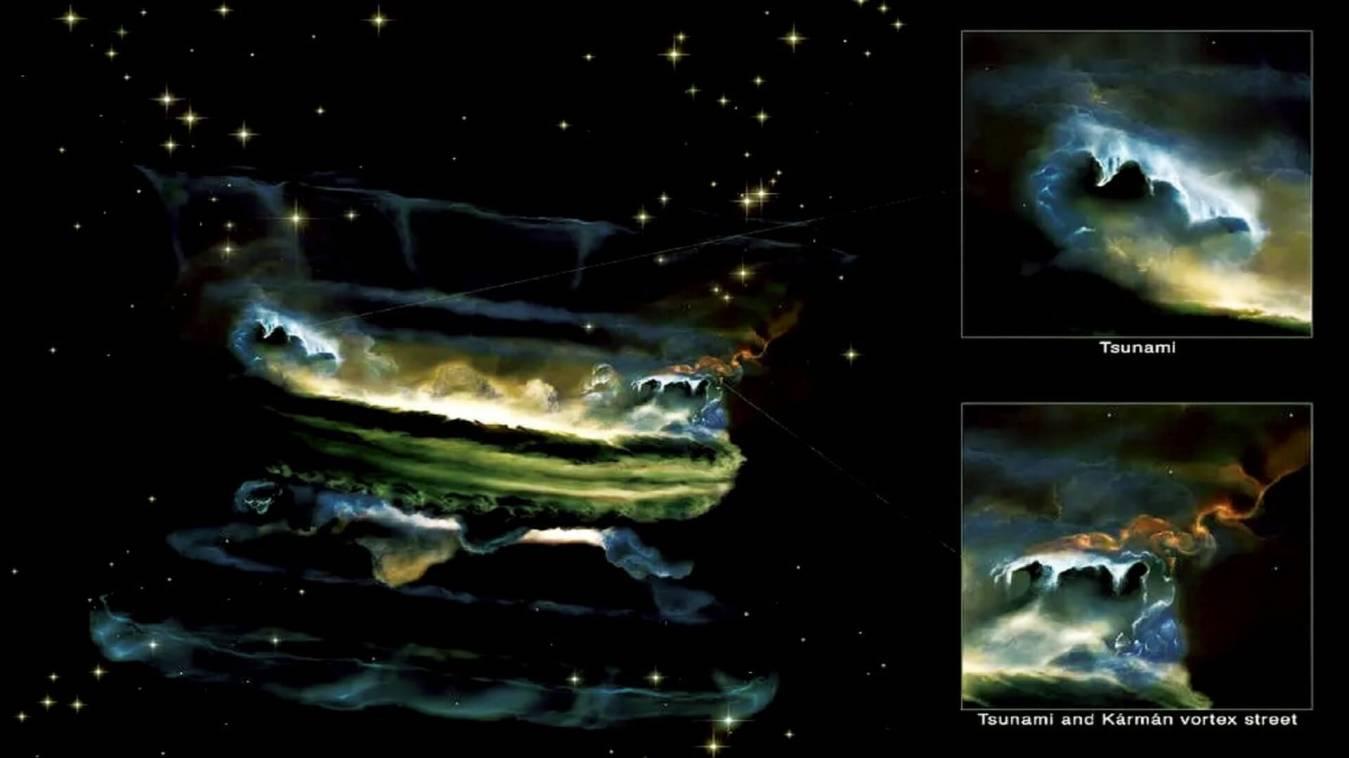 सामने आयी अंतरिक्ष में सुनामी की तस्वीरें