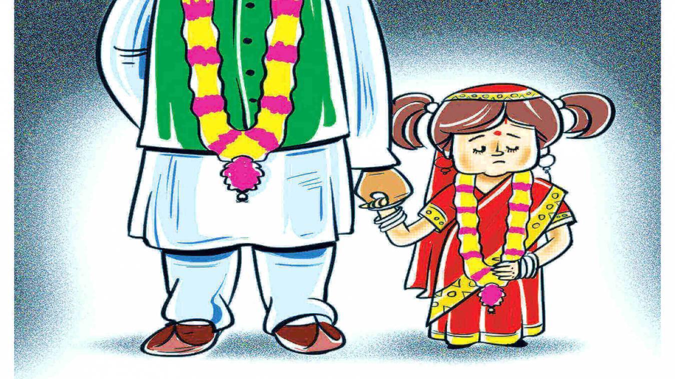 पैसा लेकर मां ने उम्रदराज से कर दी नाबालिग बेटी की शादी