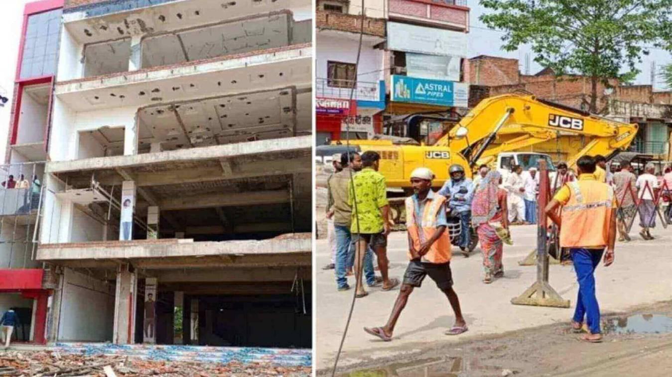 बाहुबली के 10 करोड़ शॉपिंग कॉम्प्लेक्स पर चला बुलडोजर