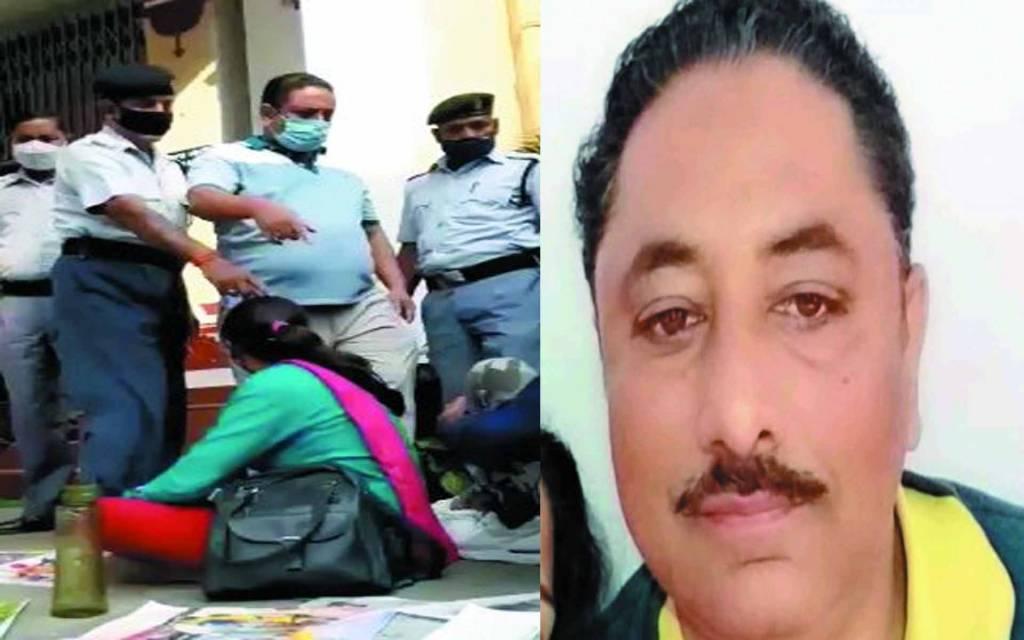 वाराणसी: धरने पर बैठे छात्र को बीएचयू के सुरक्षा अधिकारी ने मारी लात, मचा बवाल